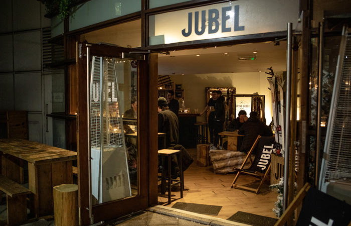 Jubel Ski Lodge  - Pop up bar at The Conductor, London.